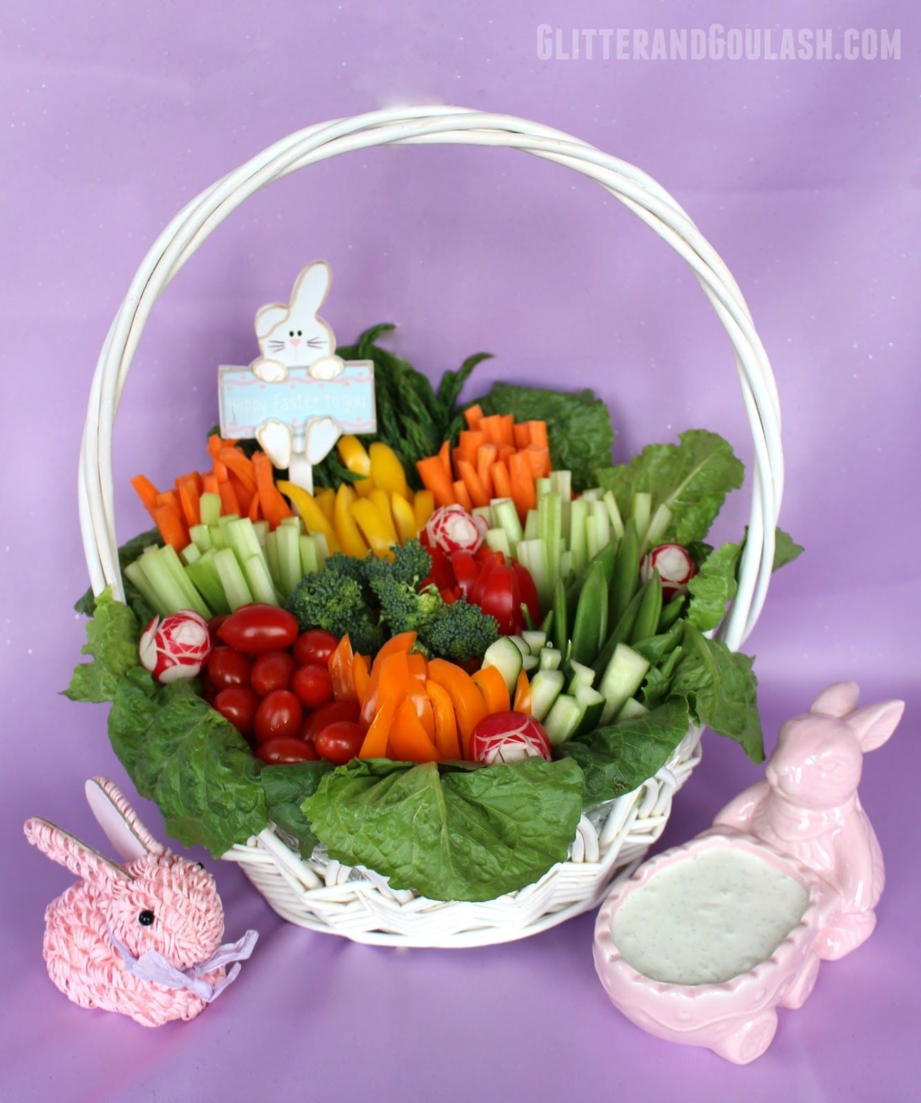 Easter Basket Relish Tray - Glitter and Goulash