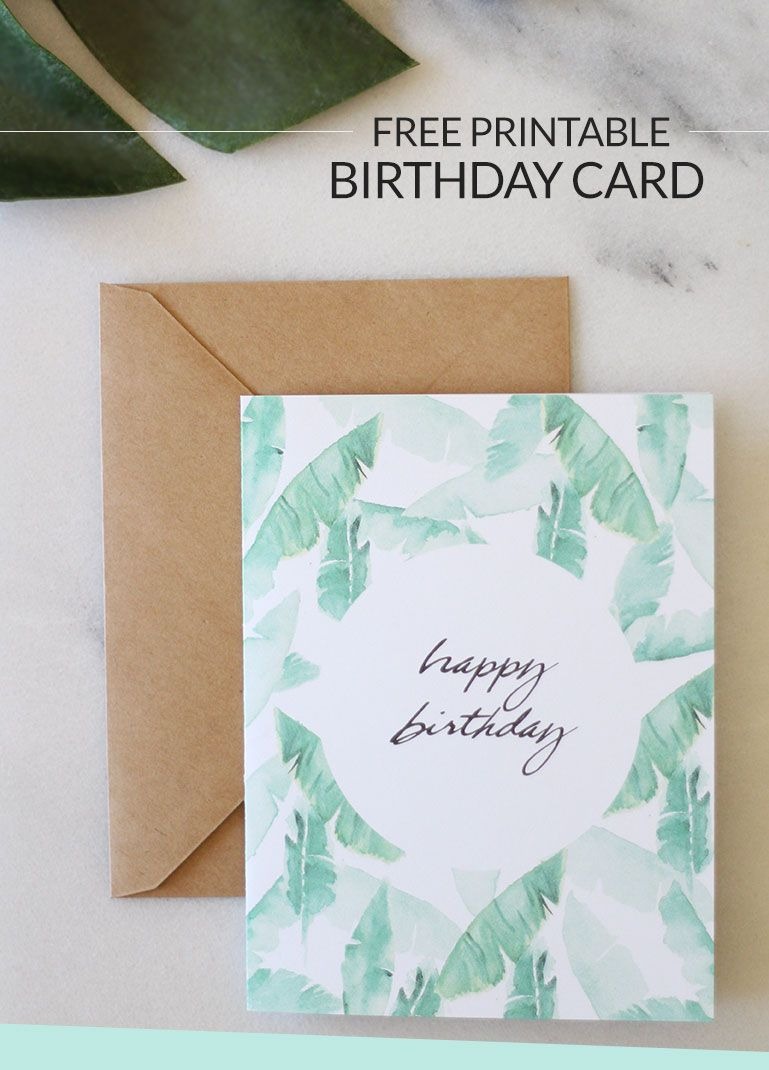 FREE Printable Birthday Card Give Wishes In Style With This Hand Painted Design Click Through To Download