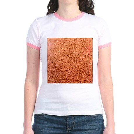 Coral Orange Abstract Low Polygon Background T-Shi