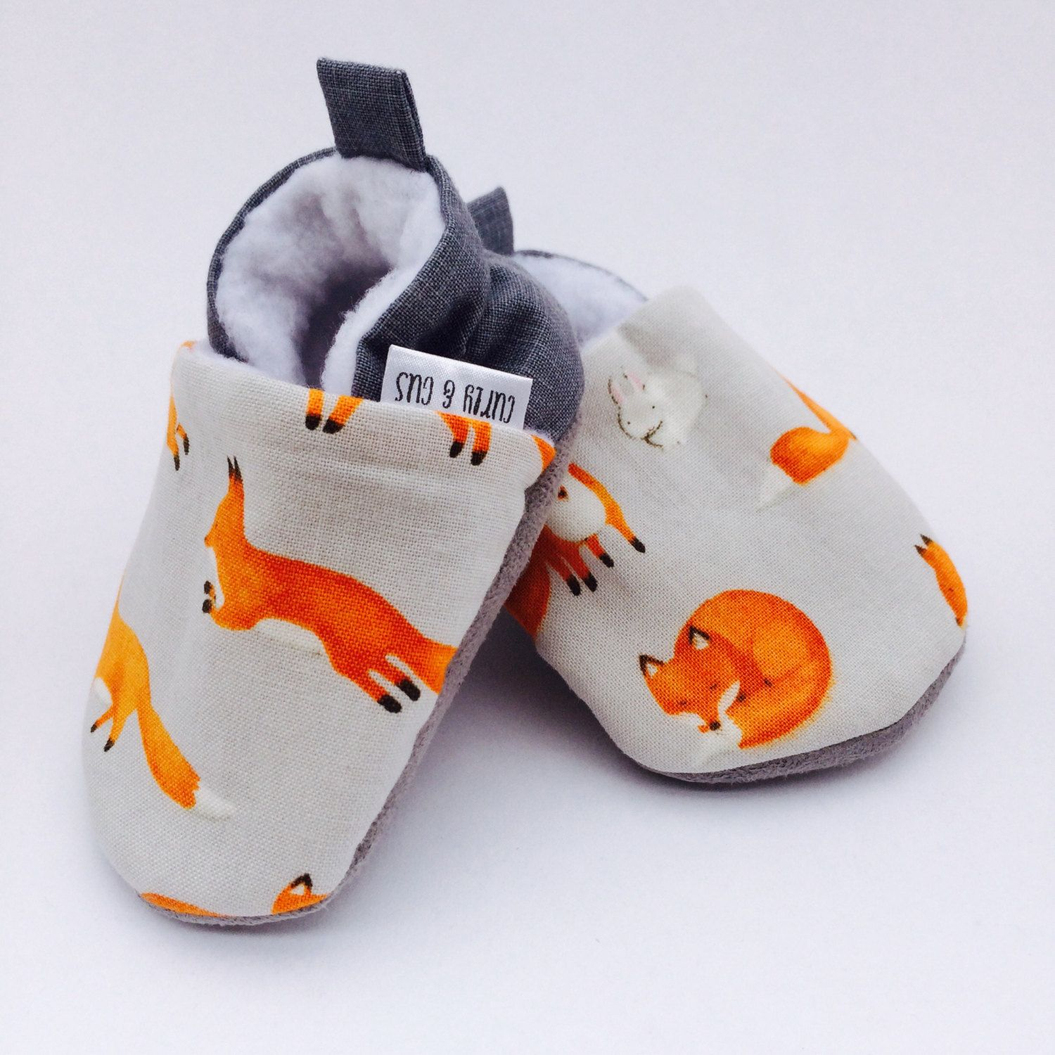 Fox Baby Shoes Soft Sole Baby Shoes Baby Booties Baby Moccasins