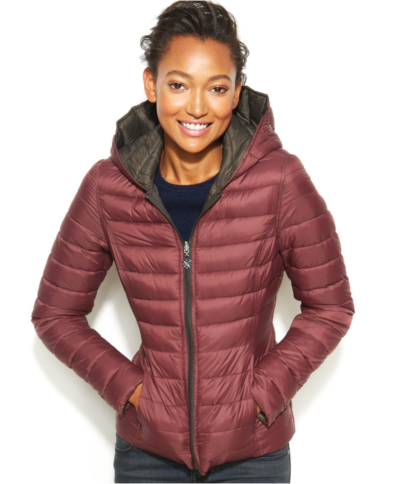 Nautica Reversible Hooded Quilted Packable Puffer Coat - The ...