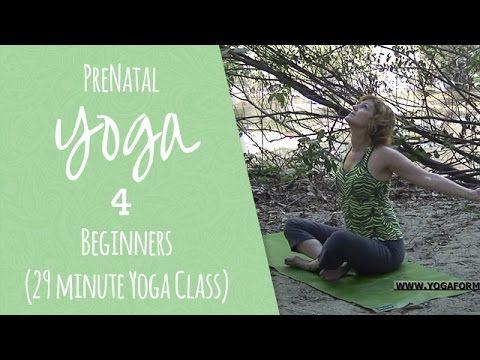 PreNatal Yoga for Beginners (29 minute Yoga Class) - YouTube