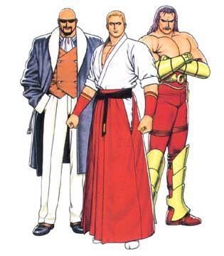 96 Boss Team Geese Howard Wolfgang Krauser Mr Big King Of Fighters Poses Legais Lutador