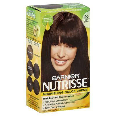 Garnier Hair Color Dark Brown With Images Garnier Hair Color