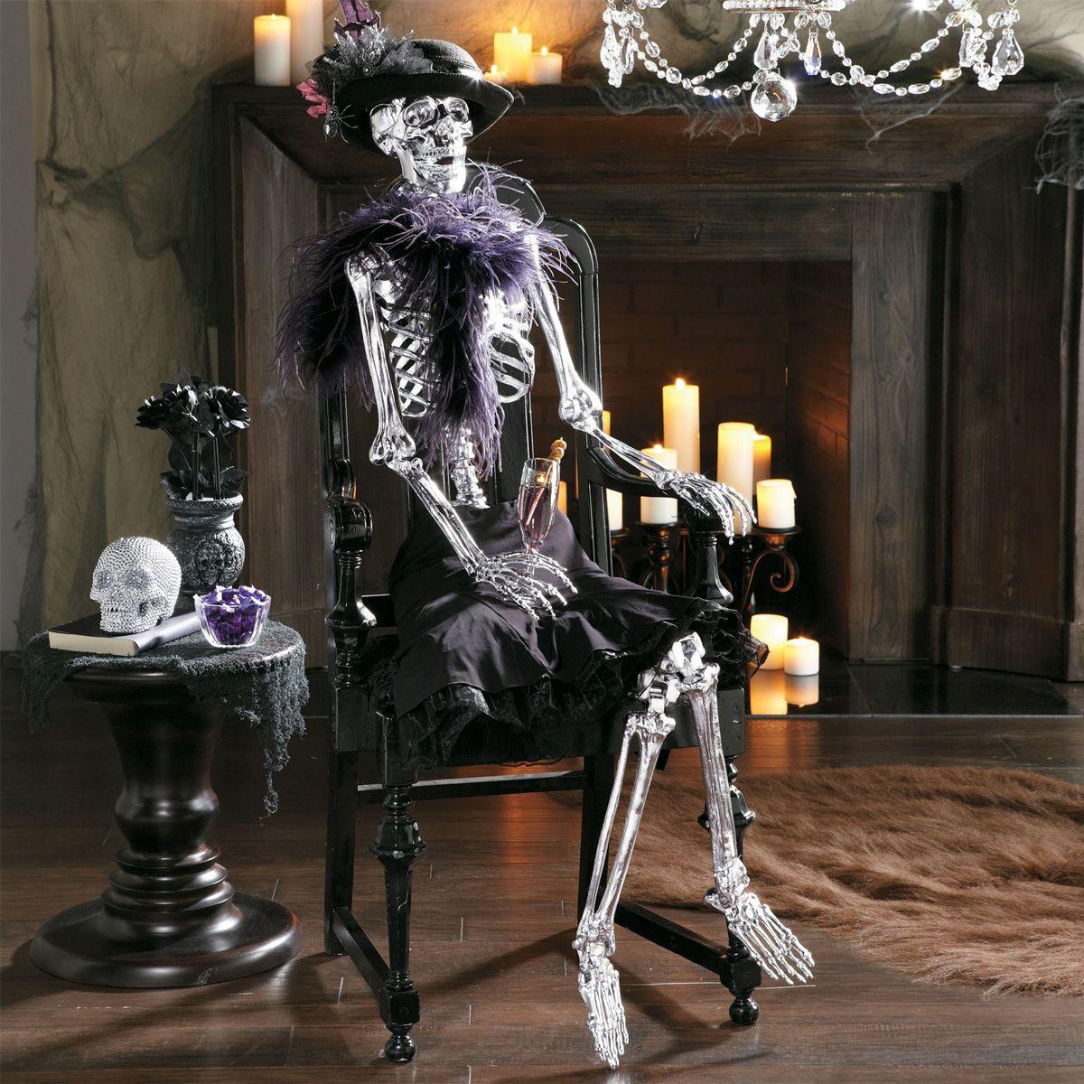 lifesize chrome skeleton | halloween | pinterest | halloween, spooky