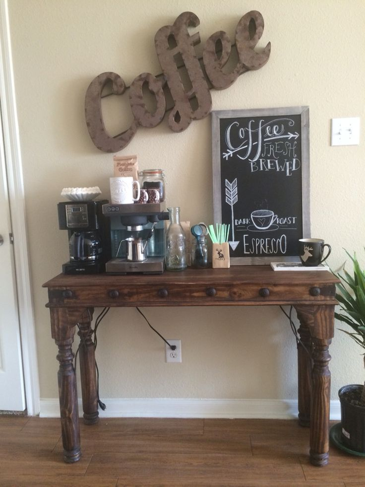 Gotta make use of those small spaces! | Coffee bar home ...