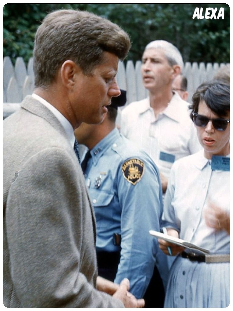 JFK talking to reporters in Hyannis Port   Camelot on The Cape ...