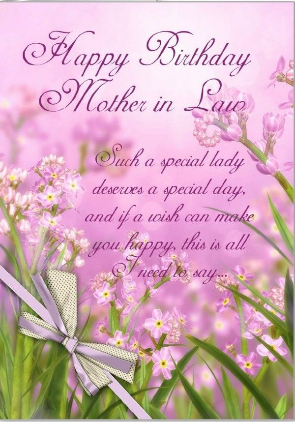 Happy Birthday Saying For Mother In Law