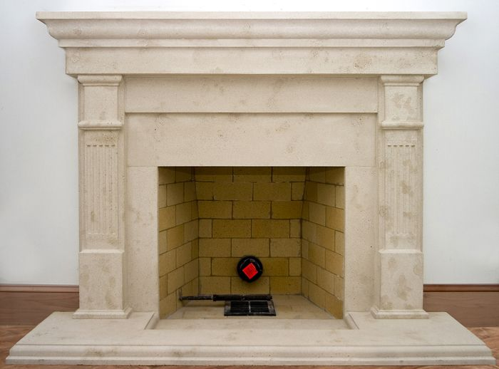 Square pilaster fluted Fireplace Mantel Cast Stone Bradford stone fireplaces  Chicago - Square Pilaster Fluted Fireplace Mantel Cast Stone Bradford Stone