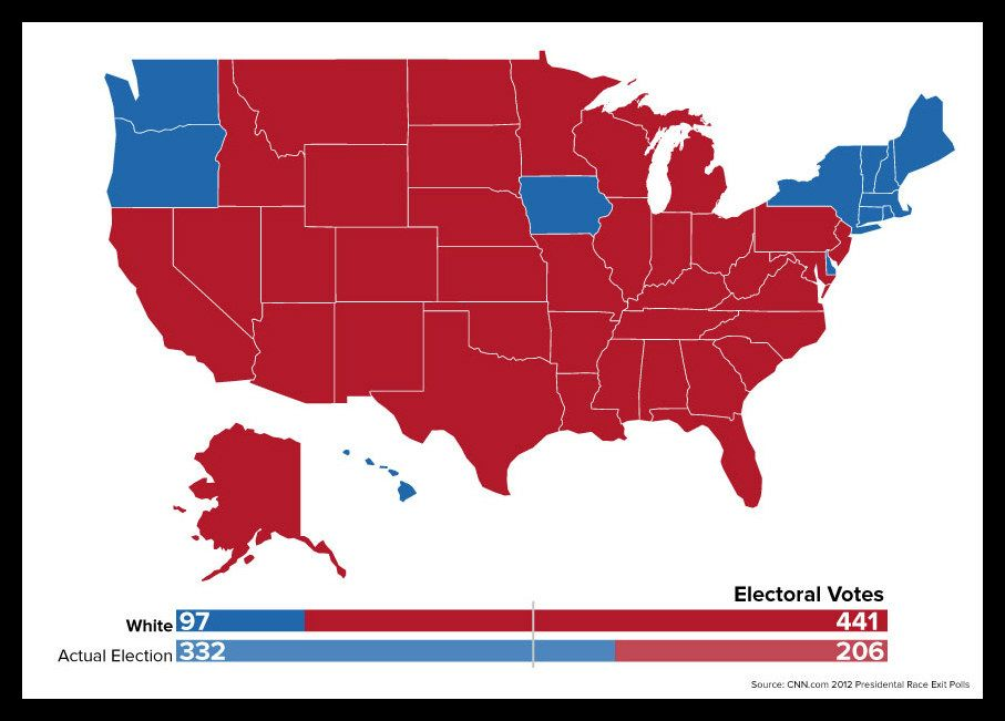 A map doesnt show the results of the 2012 election if only people