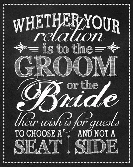 Just Listed New Original Creatively Worded No Seating Plan Sign By Sangria Studios Wedding Ceremony Whether Your Relation Is