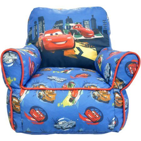 disney cars 2 toddler bean bag chair red