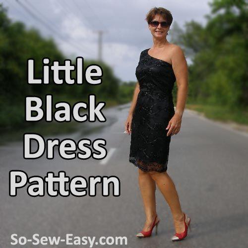 Schnittmuster kleid kleines schwarzes