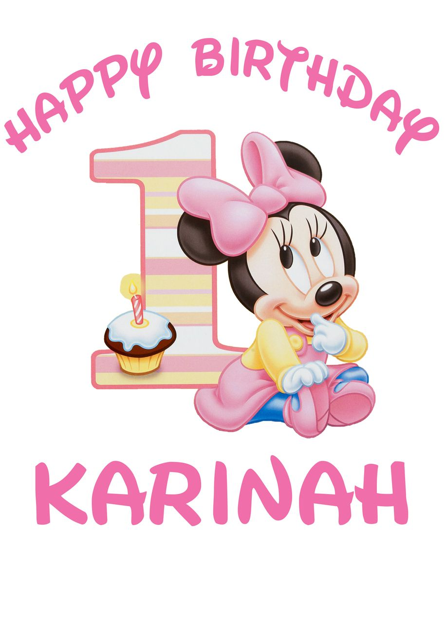 Disney Baby Minnie 1st Birthday Iron On Transfer