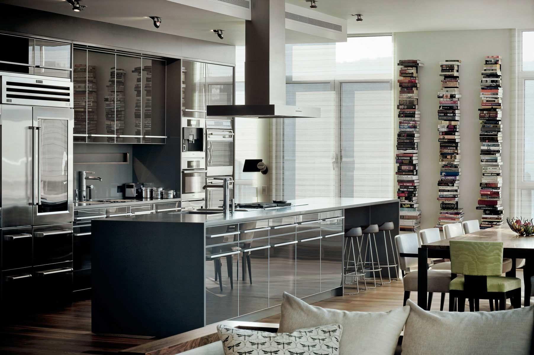 Db Projet Penthouse Centre Vill Montreal Design De Cuisine De Luxe Cuisine Design Moderne Cuisine Luxe