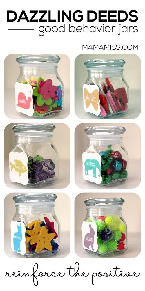 Dazzling Deeds Good Behavior Jars Kids Rewards Kids Behavior Positive Reinforcement Kids