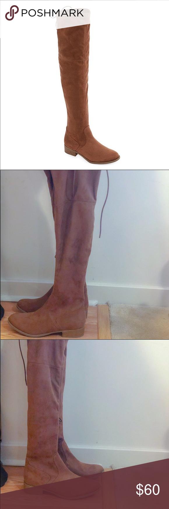 8d296345e6a Arizona OTK Taupe Boots NWT Size 8 MSRP  80 Retails  80! Arizona OTK Over  the