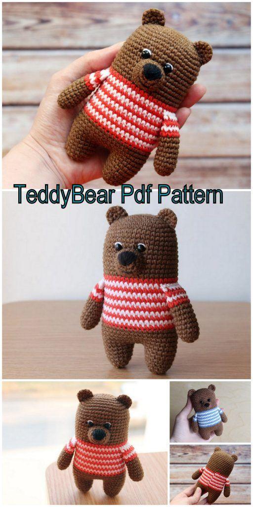 Free Amigurumi Teddy Bear Crochet Patterns - Amigurumi Free Patterns #crochetteddybears
