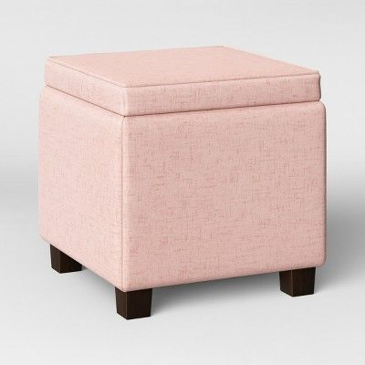 Terrific Fairland Square Storage Ottoman Pale Pink Velvet Squirreltailoven Fun Painted Chair Ideas Images Squirreltailovenorg