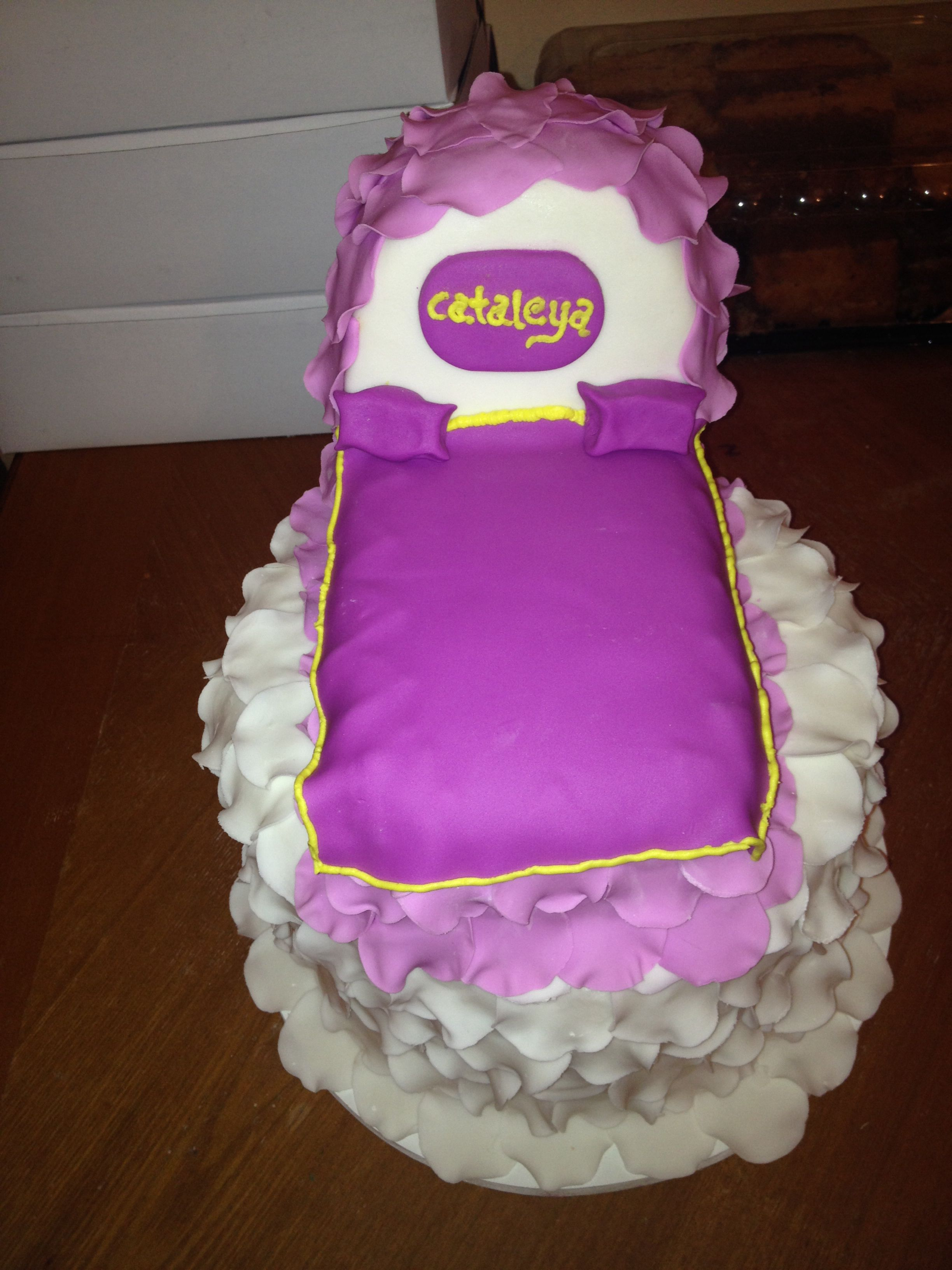 My baby's baptism cake made by moi   How to make cake ...