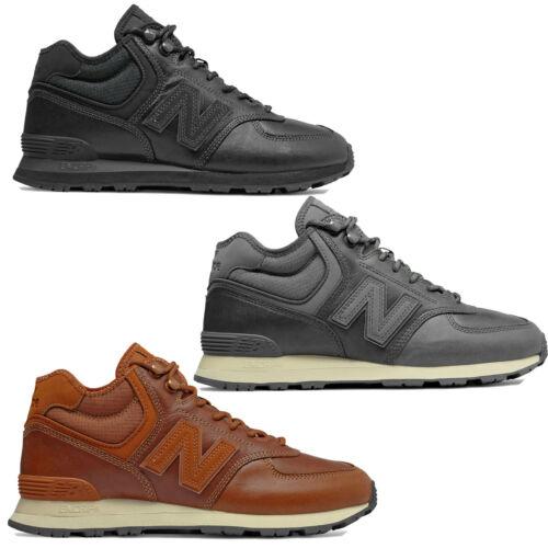 New Balance 574 Mid Leather Mens Winter Shoes Leather Trainer Hi Top Shoes New Ebay En 2020 Botas Hombre Cuero Zapatos De Cuero