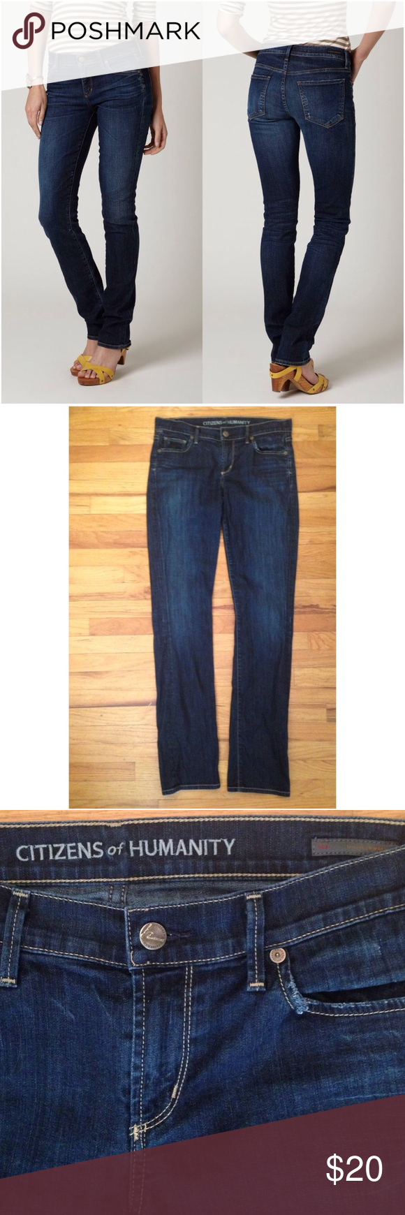 Citizens of Humanity Ava Low Rise Straight Leg Citizens of Humanity Ava Low Rise Straight Leg. 98% cotton, 2% spandex. Some distressing on back of bottom hems as shown in last image. Otherwise in great condition. Anthropologie Jeans Straight Leg