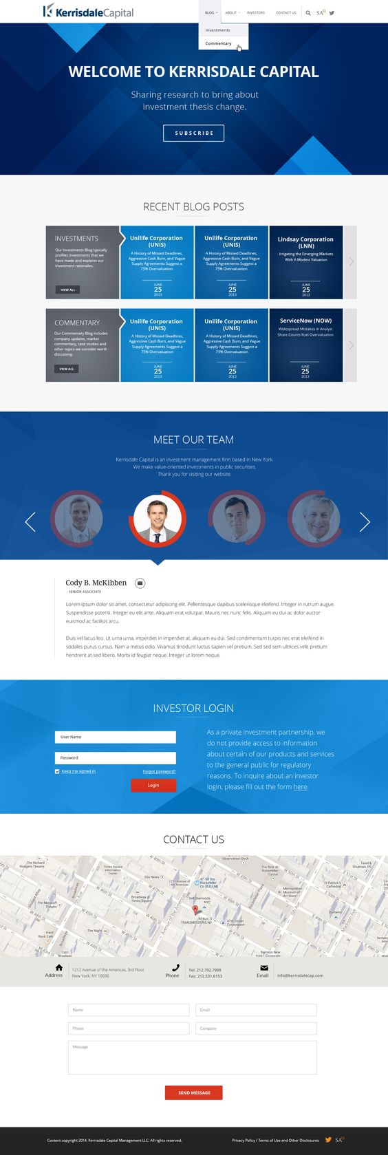 Design Sleek Website for Financial Investment Research