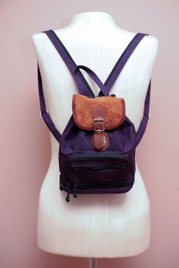 5f1f371b6a Vintage 90s Grunge Revival Purple Mini Backpack