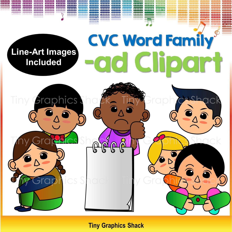 Cvc Ad Family Clip Art Short A
