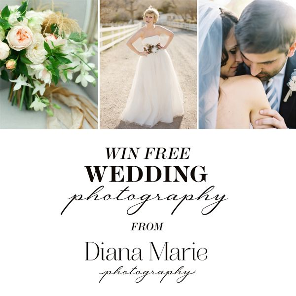 Win Wedding Photography From Diana Marie Photography Elizabeth Anne Designs The Wedding Blog Wedding Photography Wedding Free Wedding