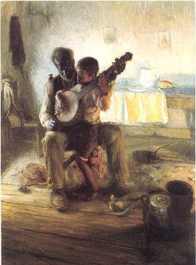 the banjo lesson painting