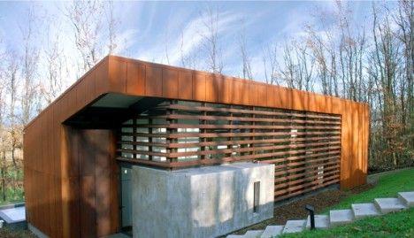 Maison moderne en acier corten - Maison contemporaine : maison BBC ...