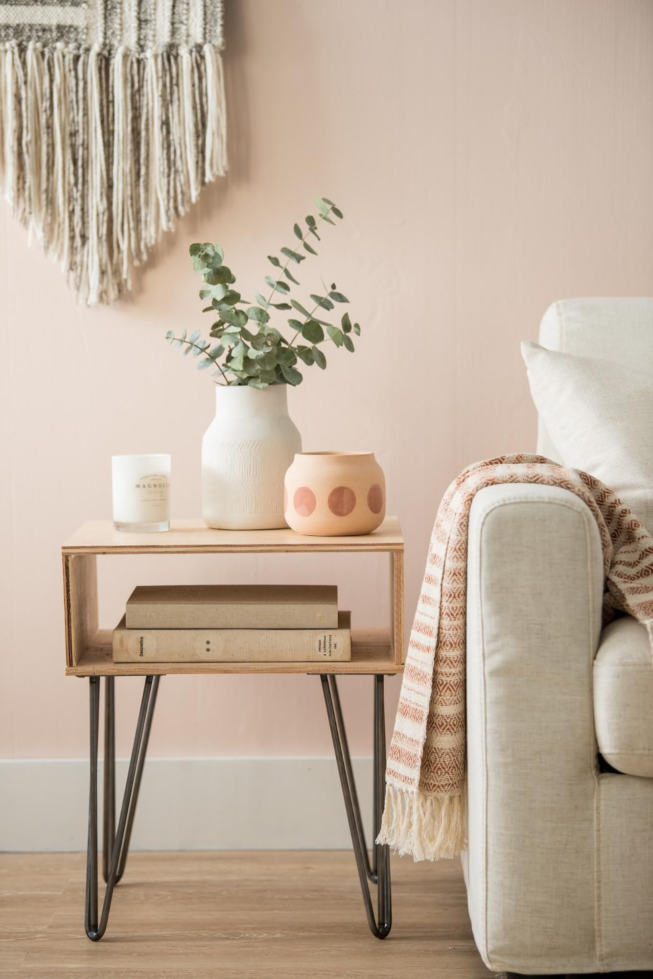 How to Build and Style a Side Table   Side table decor ...