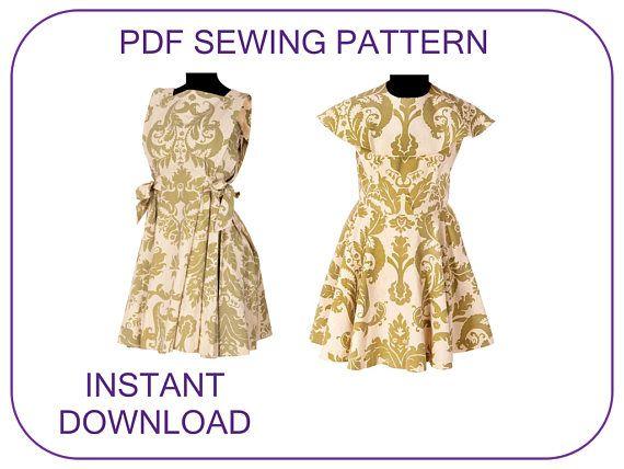 Brigitta Von Trapp Curtain Dress Pdf Sewing Pattern The Sound Of