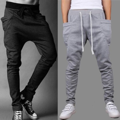 69dad86b72 Details about Mens Skinny TRACK PANTS Slim Cuff Trousers Gym Slacks ...