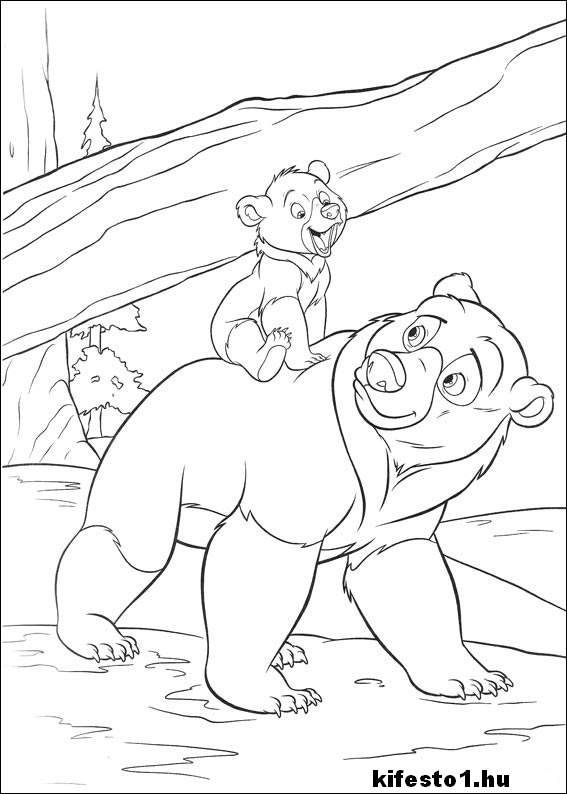Macis 68 Kifesto Nyomtathato Bear Coloring Pages Brother Bear Art Disney Coloring Pages