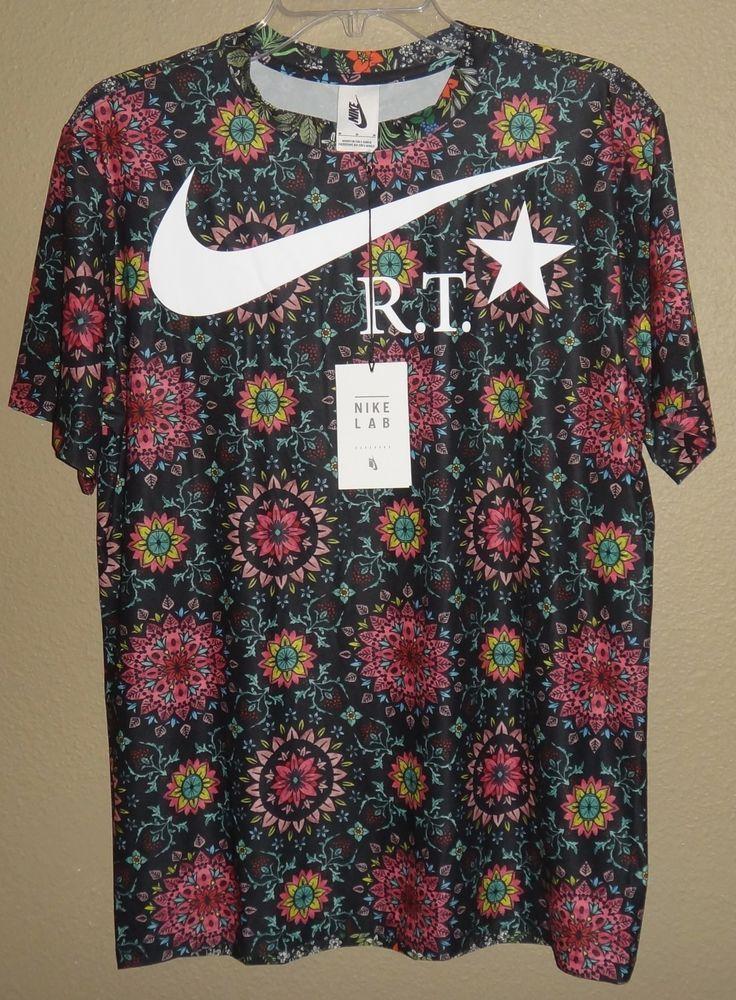 NWT WOMENS M NIKE X NIKELAB RT RICCARDO TISCI FLORAL KALEIDOSCOPE PRINTED  SHIRT  Nike  ShirtsTops e3974b931