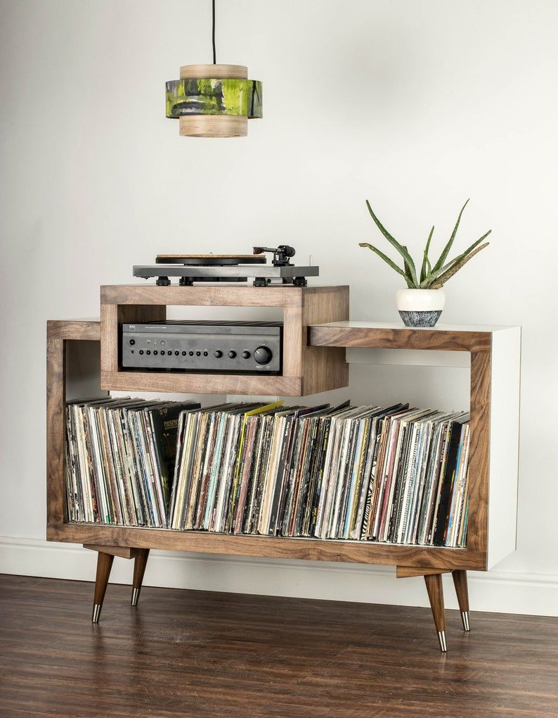Pin By Kameron Yuuki On Audio In 2020 Vinyl Record Furniture Record Player Stand Vinyl Storage