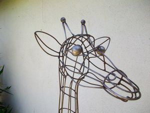 Topiary Giraffe Sculpture face $900