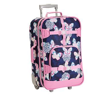 Mackenzie Navy Butterfly Floral Luggage Pbkids Luggage