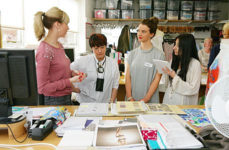David Nieper Fashion Design Scholarship David Nieper Fashion Undergrads From Nottingham Trent University Visit The Design Stud Nottingham Trent University Fashion Design Studio