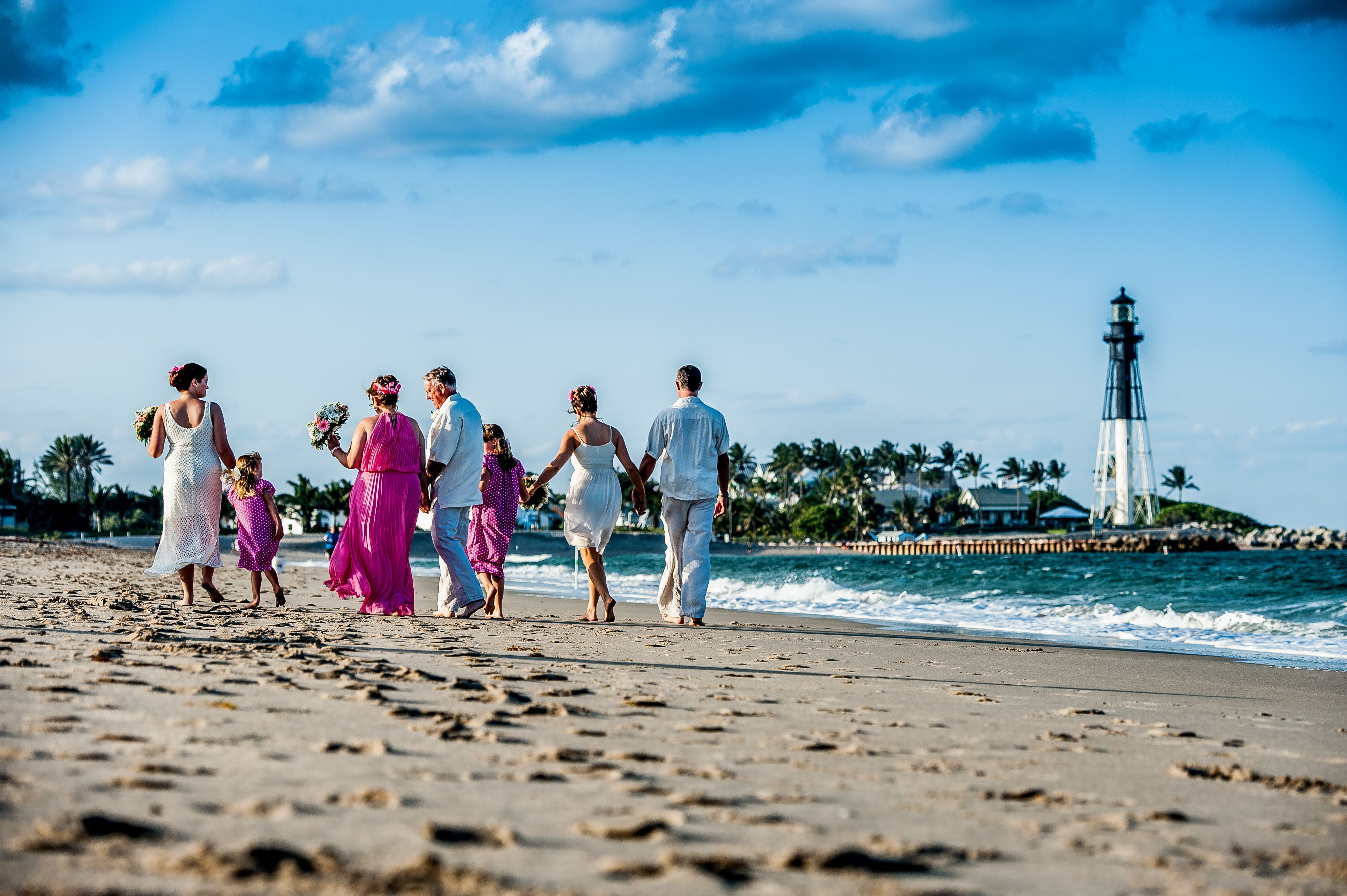 Beautiful South Florida Beach Wedding On North Pompano With Views Of The Hillsboro Inlet