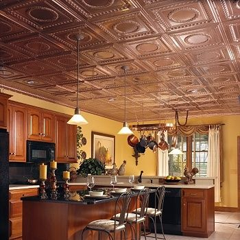 Copper Tile Ceiling Wall Color