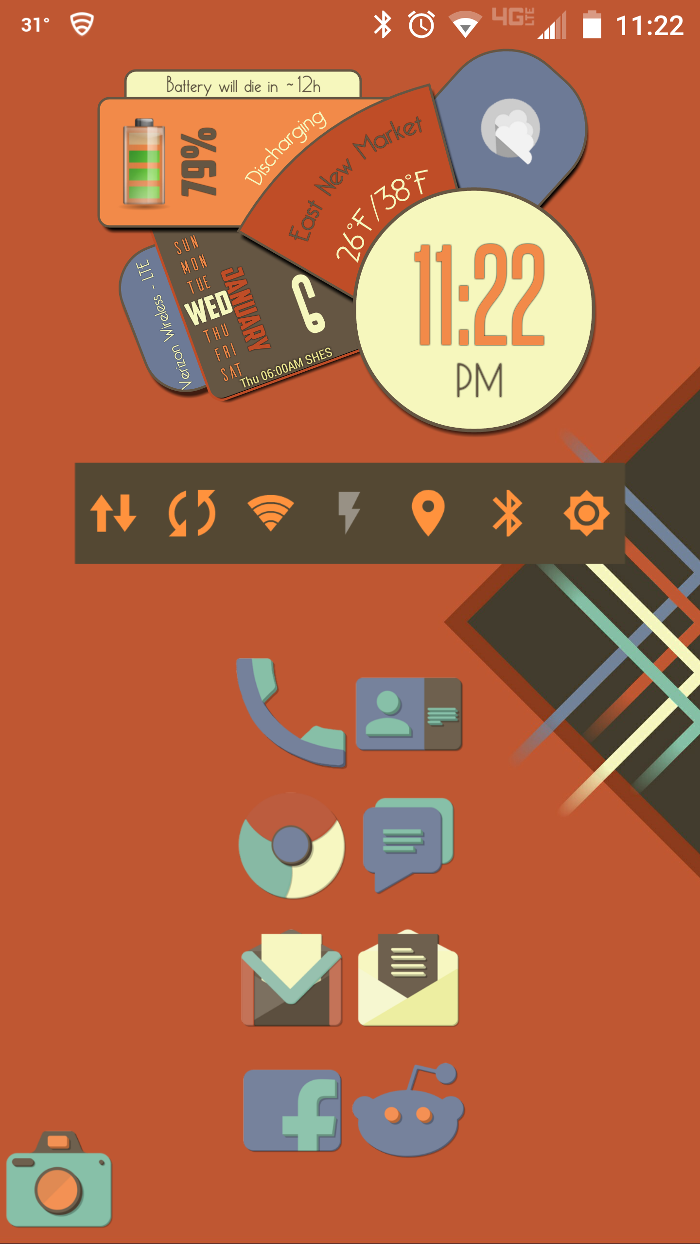 Hoildays Homescreen, Android theme, Content