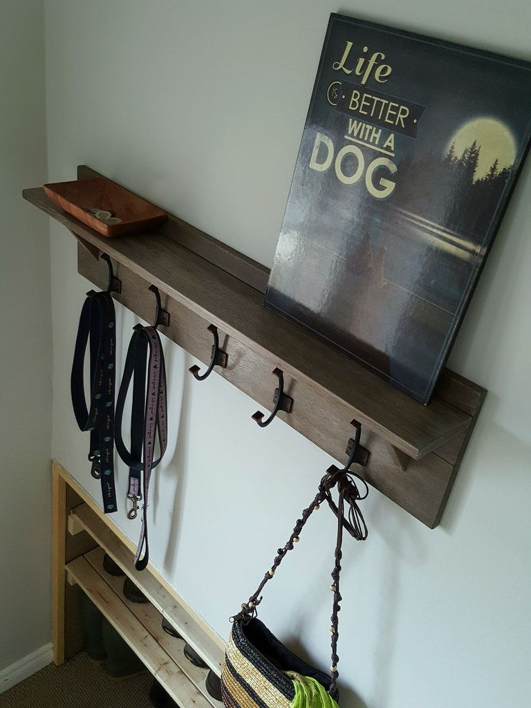 Wall Mounted Coatrack With Shelf Diy For 25 Diy Coat Rack Coat Rack Wall Coat Rack Shelf
