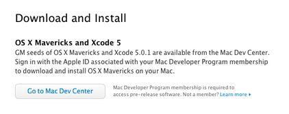 Apple disponibiliza OS X 10.9 Golden Master para programadores