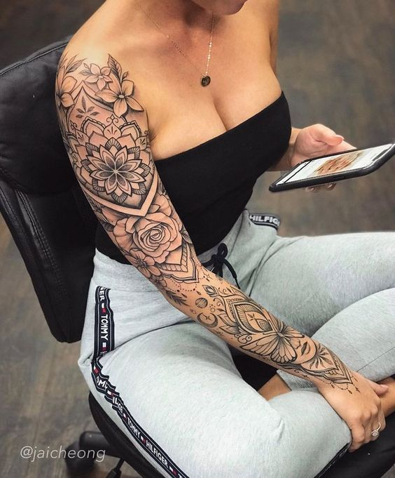 Trendy Tattoo Ideas Female Side 30 Ideas Page 6 Of 30 Creative Vision Design Sleeve Tattoos For Women Full Sleeve Tattoos Badass Tattoos