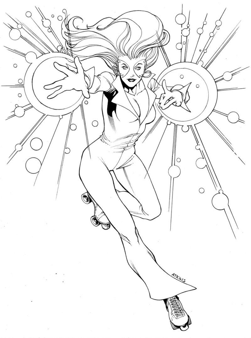 X Men Month Dazzler Sotd By Robert Atkins Coloring Pages Dazzler Marvel Marvel Coloring