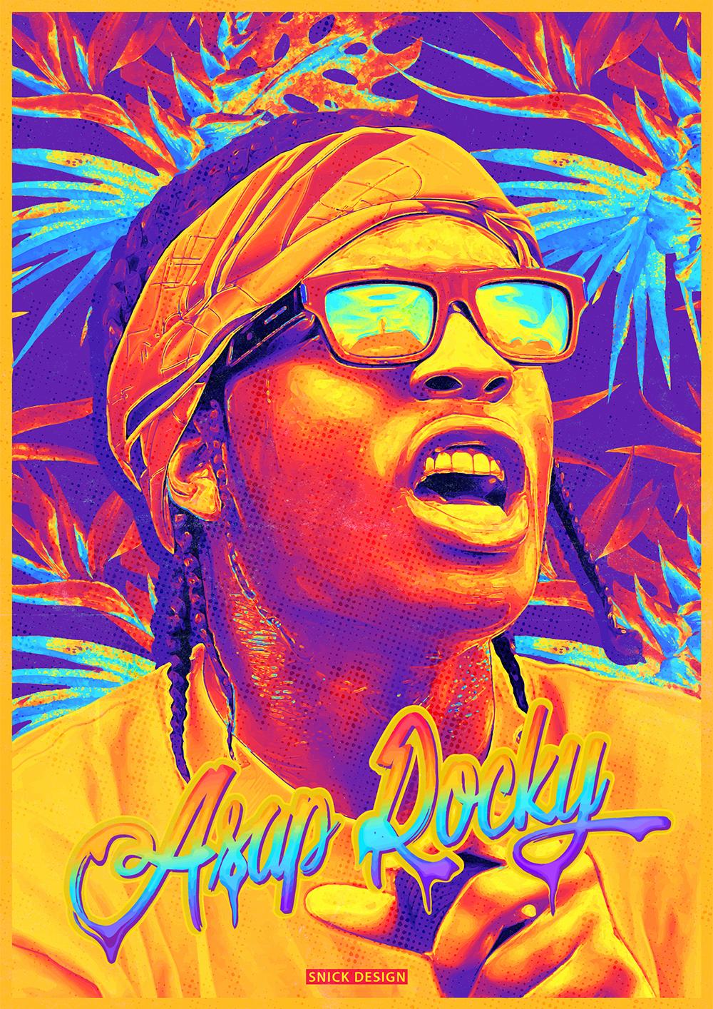 Three famous HipHop artistsTravis Scott, Asap Rocky