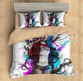 3d Customize Harley Quinn Bedding Set Duvet Cover Set Bedroom Set